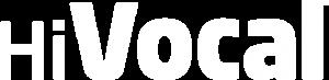 Logo HiVocal alone blanco